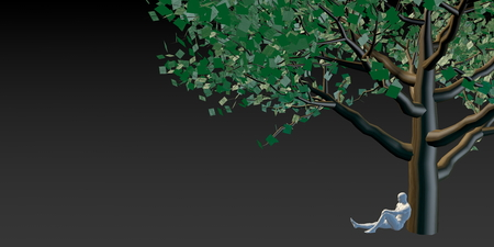 dollars: Money Tree with US Dollars Leaves Growing Above Stock Photo