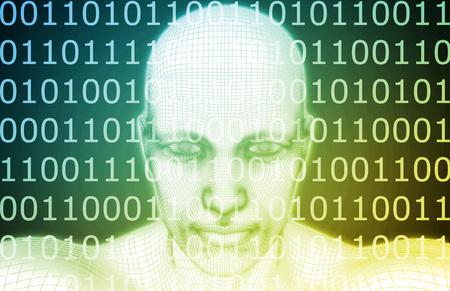 개념으로 인공 지능 또는 AI 소프트웨어 로직
