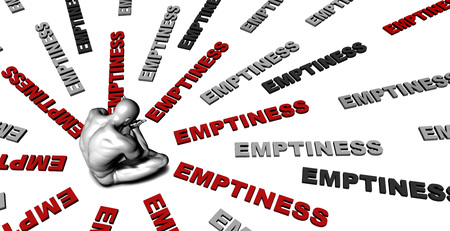 emptiness: Suffering From Emptiness with a Victim Crying Male
