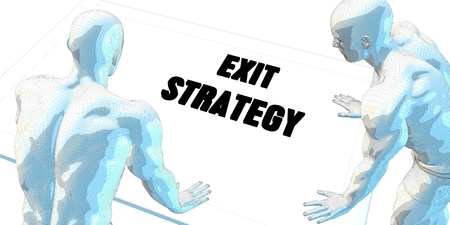 discussion: Exit Strategy Discussion and Business Meeting Concept Art Stock Photo