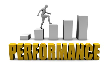 better performance: Improve Your Performance  or Business Process as Concept Stock Photo