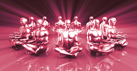 yogi: Zen State and a Peaceful or Calm Mind Concept