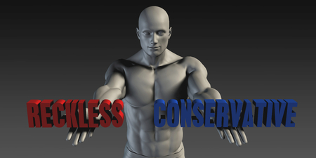 deciding: Reckless or Conservative as a Versus Choice of Different Belief