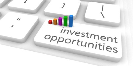 solutions: Investment Opportunities as a Fast and Easy Website Concept Stock Photo