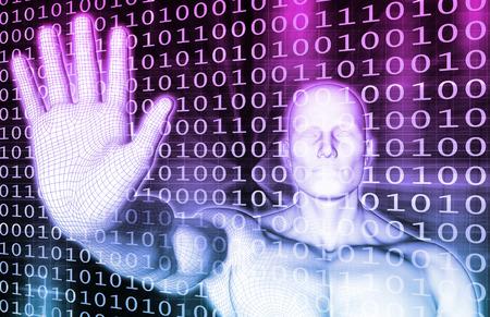 red informatica: Red de Seguridad del Cyber ??con ordenador Conectividad Arte