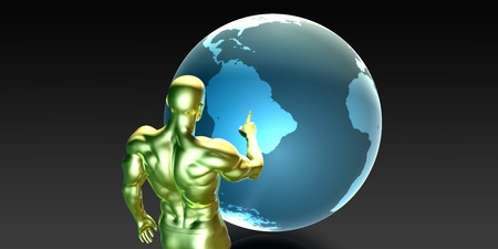 strategic focus: Businessman Pointing at South America Business Investment