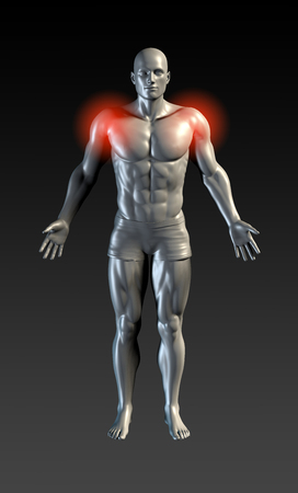 deltoid: Shoulder Injury with Red Glow on Area Series