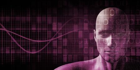 mente: Implante humana Tecnología Concepto como ilustración Foto de archivo