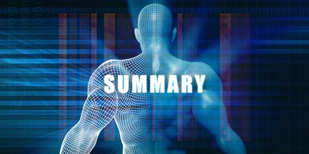 summary: Summary as a Futuristic Concept Abstract Background