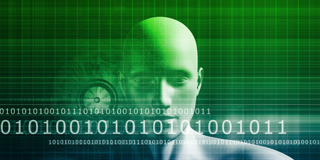 authorisation: Digital Identity with an Android Faceless Head Art