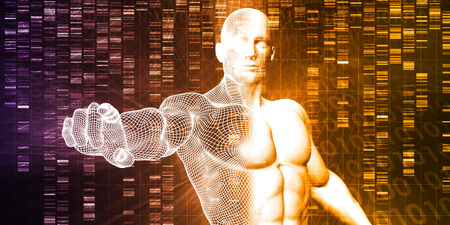 engineered: DNA Chemistry Technology and Genome Sequencing Concept Stock Photo