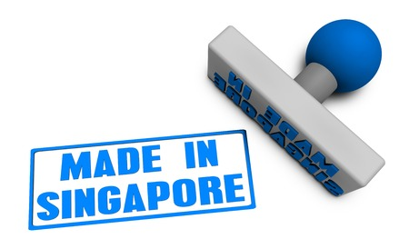 reviewed: Made in Singapore Stamp or Chop on Paper Concept in 3d