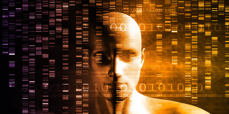 genetic engineering: Genetic Engineering Science Research and Development Concept Stock Photo