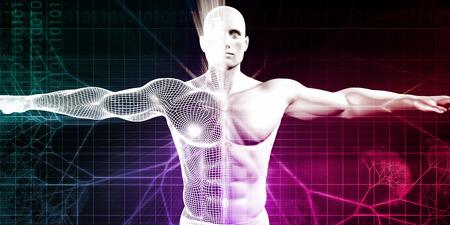 Sportlich Anlage und Körperentwicklung als Konzept Lizenzfreie Bilder