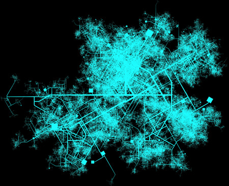 Stad Infrastructure Planning met wegen en gebouwen