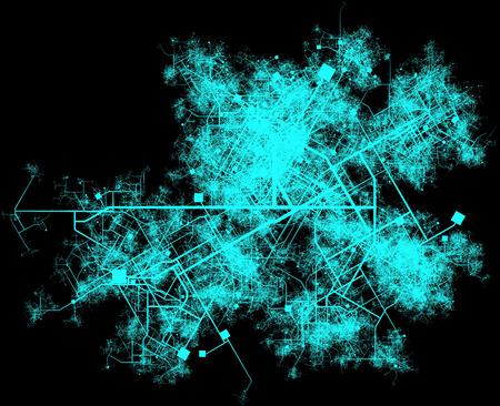 Ville planification de l'infrastructure des routes et des bâtiments