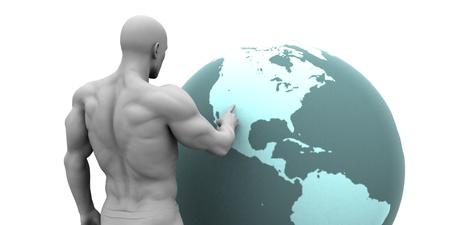 continente americano: Expansión de negocios en América del Norte Continente Concepto