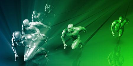 anatomie humaine: Sport Science Research et le développement en tant que Concept Banque d'images