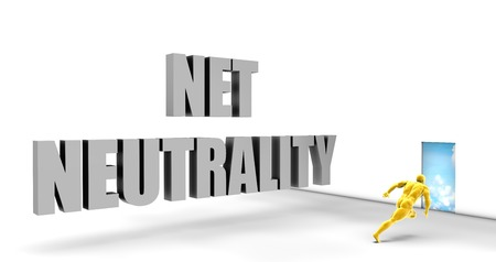 neutrality: Net Neutrality as a Fast Track Direct Express Path Stock Photo