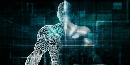 Red del sistema de cuidado de la salud como un concepto de tecnología digital