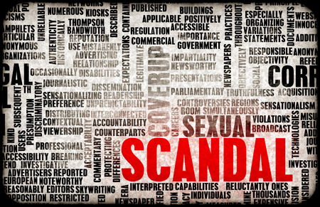 scandal: Scandal as a Political or Sexual Concept Stock Photo
