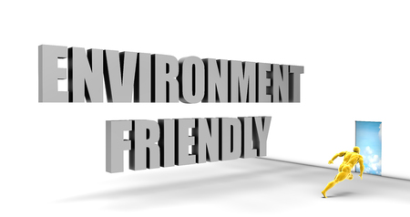 convention: Environment Friendly as a Fast Track Direct Express Path Stock Photo