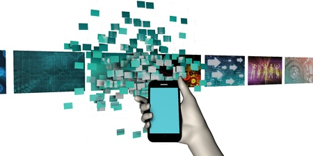 mobile apps: Apps Background for Smartphone Mobile Industry as Concept