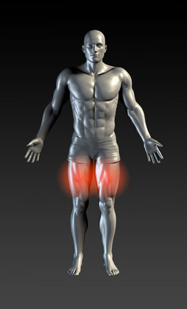 Thigh Injury with Red Glow on Area Series