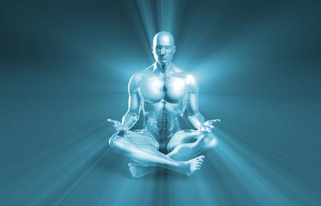 luminance: Spiritual Landscape and Faith Healing as a Concept Stock Photo