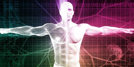 Medizinische Tests und Körper Checkup eines menschlichen Mannes