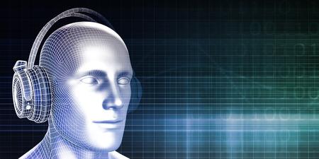 sound bite: Sound Bites or Bytes with Man on Equalizer Background