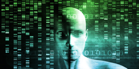Genetic Modification as a Science Concept Industry Art Stock Photo