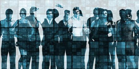 personas de pie: Los hombres de negocios Grupo de pie juntos en la Unidad