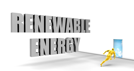 renewable energy: Renewable Energy as a Fast Track Direct Express Path Stock Photo