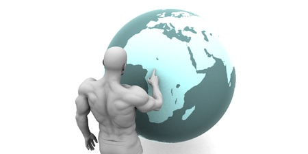 emerging economy: Business Expansion into Africa or African Continent Concept Stock Photo