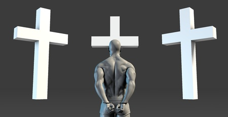 atonement: Religious Transformation to Christianity as a Concept Stock Photo