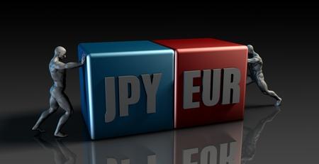 eur: JPY EUR Currency Pair or Japanese Yen vs European Euro