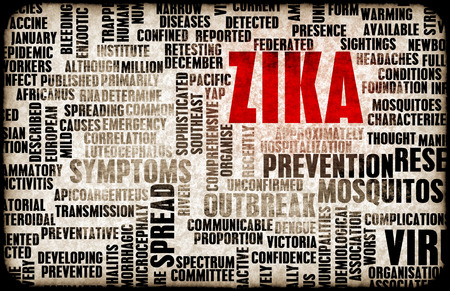 virus infection: Zika Virus as a Danger Concept Art Stock Photo