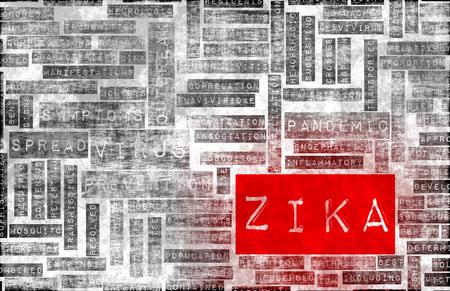 containment: Zika Virus as a Danger Concept Art Stock Photo