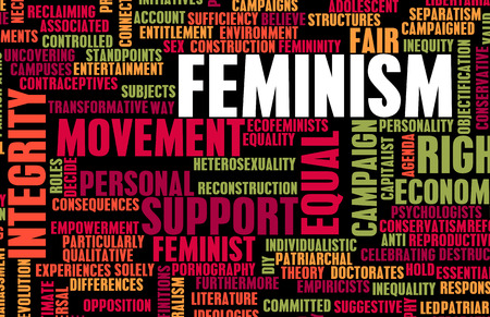 economic theory: Feminism Ideology for Equality and Fair Treatment Stock Photo