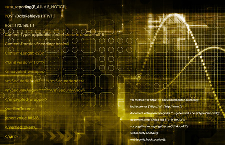 opensource: Web Technology and Design Science Network as Art Stock Photo