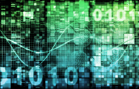 communications: Technology Theme or Themed Background with Binary Data