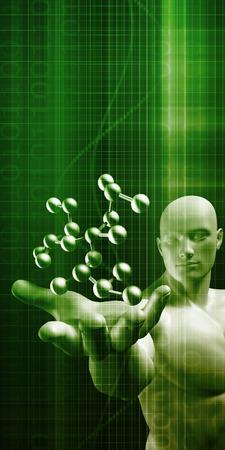 Wetenschap Moleculaire DNA-structuur als een concept