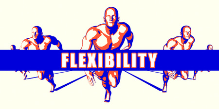 flexibility: Flexibility as a Competition Concept Illustration Art Stock Photo