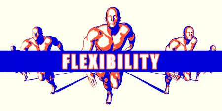 flexibility: Flexibility as a Competition Concept Illustration Art Stock Photo