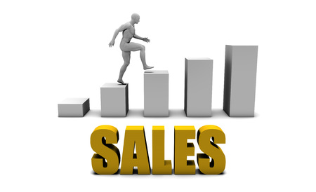 increase business: Increase Your Sales  or Business Process as Concept Stock Photo