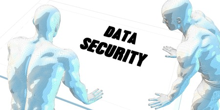 serious business: Data Security Discussion and Business Meeting Concept Art Stock Photo