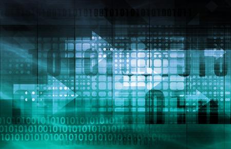Servicios de TI o Tecnología de la Información Soluciones como arte Foto de archivo