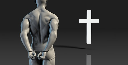 converting: Inmate Convict Prisoner Converting to Christian Faith