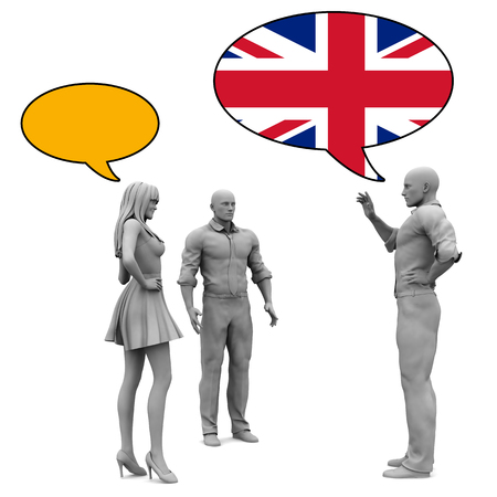 verbal: Learn English Culture and Language to Communicate Stock Photo